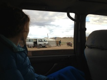asking for directions and driving conditions ahead seems to be a Mongolian pastime.