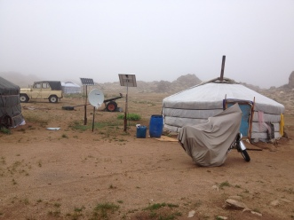 When another storm rolled through, we got a chance to learn about the Mongolian culture of interdepency. Without any hesitation, a local family hosted us for shelter and tea, before 9am. Check out the set-up, this is a common type of home for Mongolians living in the countryside.