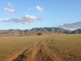 it's amazing to see the hills rise up from the steppe