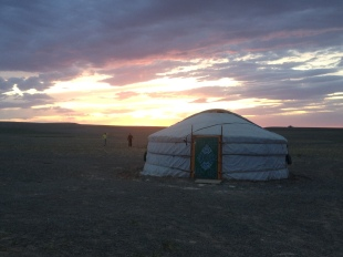 a ger is a Mongolian yurt, it's where Mongolians live, herd, cook, and hang out, and we joined them from time to time for a fun way to spend the night.