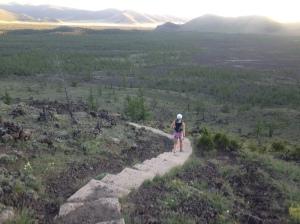volcanic running: Terkhiin Tsagaan Lake area, Mongolia