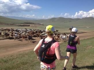 tara and laurel in mongolia