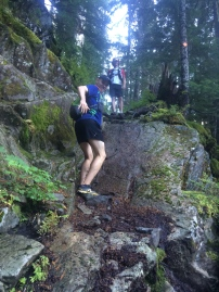 Ryan completing Howe Sound Crest Trail, with a bit of cocky ass slapping.