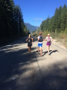 Tory, Mike and I running Squamish to Whistler.
