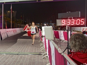 Alicia Doha Finish Line