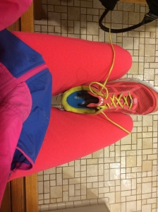 This is what I wore heat training on the treadmill.