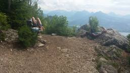 Favourite nap of my life, at the top of Mt Veyrier.