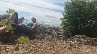 mountain-top sleeping, featuring Alissa St. Laurent.