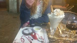 You can get the best desserts in Annecy. One night we actually saved room and had this hilarious over the top dessert.