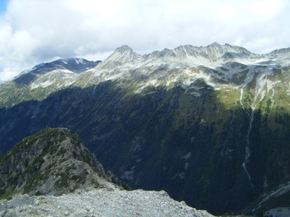 The goal is to get over to that ridge across the valley, through the path of least resistance. Photo credit: Mike Rose.