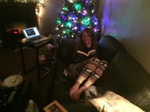 Alicia reading.