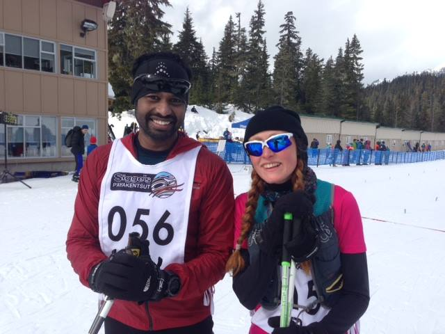 Raj skied 45k with me!