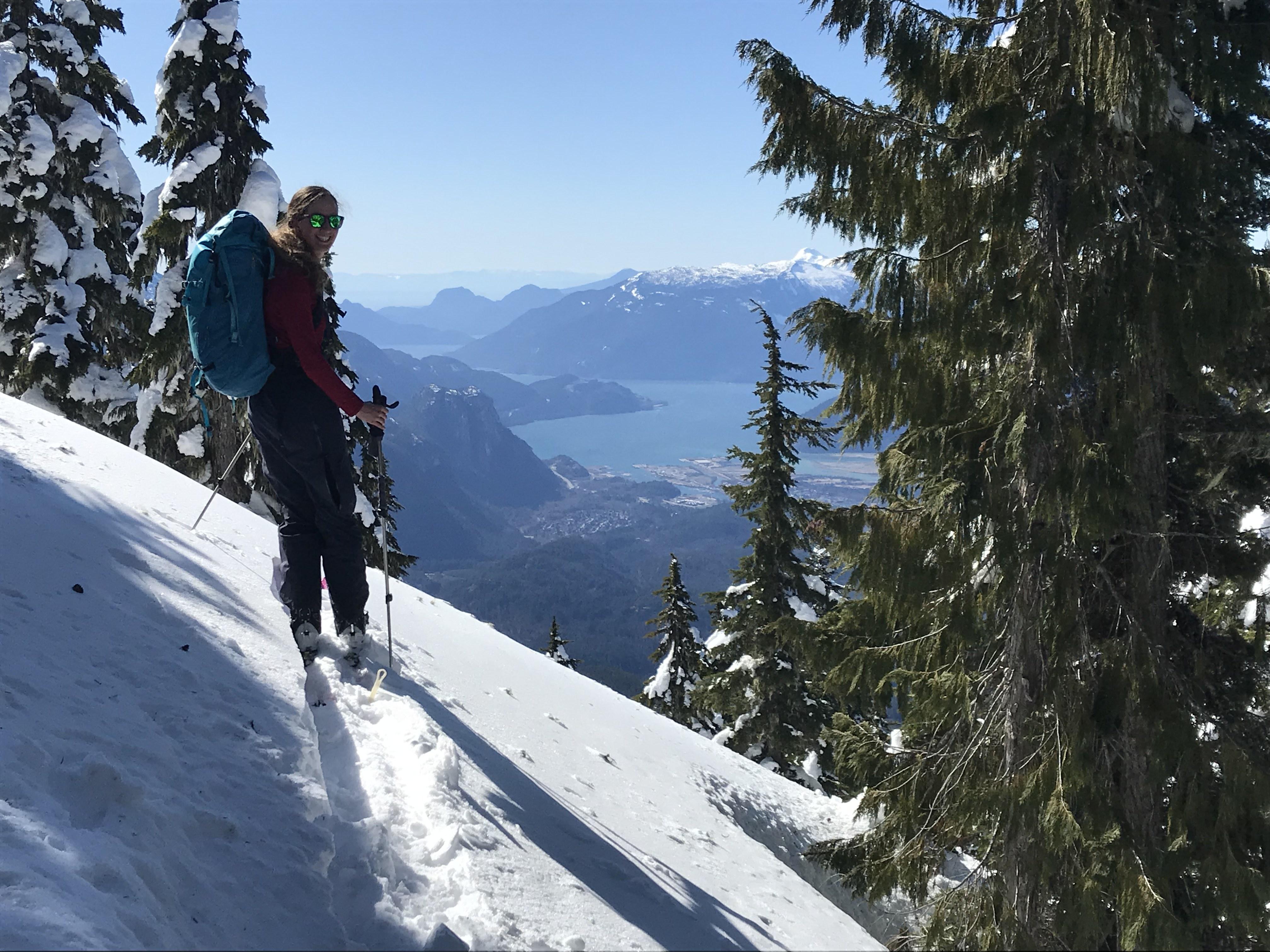 ski touring in squamish